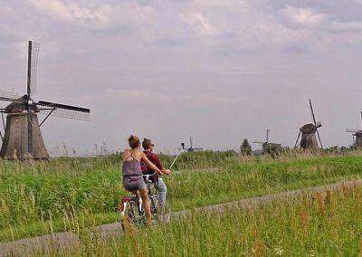 Biking Kinderdijk
